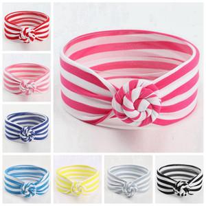 8 colores lindo infantil del bebé rayada nudo venda de las muchachas de las vendas headwraps turbante favor Pañuelos Hairband Partido Puntales Phtography RRA3089
