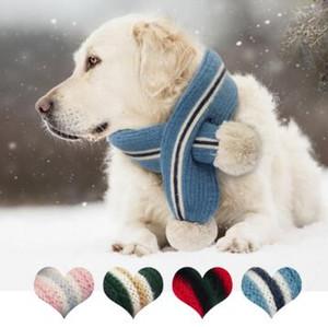Winter Dog Pet шарф теплого Шерстяной шарф шея собака Аксессуары Шарфы для Маленьких Средних Большой Собаки Щенки воротников Pet продуктов
