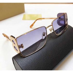 Yeni sezon bayan tasarımcı küçük kare metal çerçeve çift B mektup bacaklar basit moda stil UV400 koruyucu gözlük 3110 güneş gözlüğü
