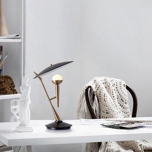 Moderna Gold Metal Microfono da tavola lampada da ufficio Studio Villa Hotel del salone della casa del lato del letto di fissaggio TA112