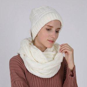 Sciarpa Inverno 140 * 35cm Loop sciarpa Circolo donne dell'involucro della sciarpa 10 colori spessi Warmer Sciarpa al collo LJJO7345-1