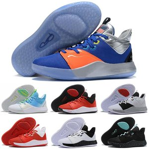 Basketball PG 3 NASA Apollo Missions 2020 Hommes Paul George Chaussures 50e Reflective USA BHM Palmdale 93552 3s III Chaussures de sport US 7-12