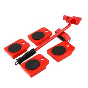 5pcs Furniture Moving Transport Set Lifter Heavy Object Handling Tool Mover For Sofa Bookcase Table Chair Bed Etc