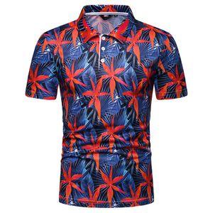 2019 Yaz Antalya Tatili Tshirt Erkekler Çiçek Baskı Kısa Kollu Beach Holiday Casual Tshirt Tops