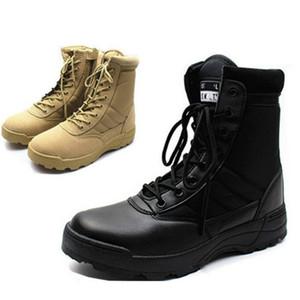 Stivali da combattimento in pelle per uomini Combat Bot Stivali tattici di fanteria Army Bots Army Shoes HH-224