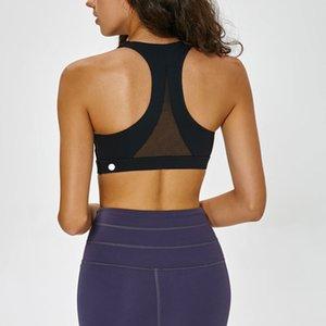 شبكة المرقعة الرياضة البرازيلي الأعلى للمرأة للياقة البدنية عالية دعم دفع اليوغا حتى السيدات Brassier مزدوج حزام الكتف فتاة ارتداء نشطة L-22