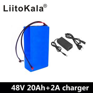 LiitoKala 48V 20AH de alta potencia de 1800W batería eléctrica de la bici de 48V 20AH E-bici de la batería de 48 voltios batería de litio con BMS 2A Carga