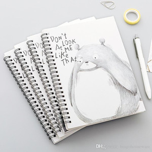Студенческая Канцелярские Memo Pad 4 шт Катушки Портативный ноутбук Мини трубы Карманный блокнот Спиральные Travel Journal Book Школа BC BH1497