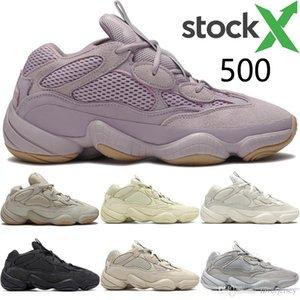 Vision douce pierre blanche os 500 ouest kanye réfléchissant chaussures de course super utilitaire noir sel lune jaune hommes les formateurs des femmes
