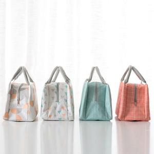 Термальные сумки обеда пикника еды простые легкие для того чтобы снести изолированный мешок Бенто практически контейнеры ткани Оксфорда с ручкой 7 2ym WW