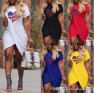 Croce Designer Maniche corte caramella abiti più il formato Colore 5XL 2019 donne Summer Love Dress Casual