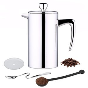ROKENE Paslanmaz Çelik Fransız Basın Kahve percolators Kahve Makinesi Çift duvarlı İnşaat Kahve 3'e basın adet Hediyeleri