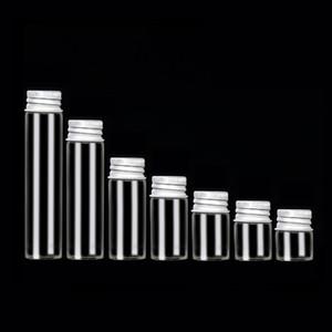 Chiaro senza piombo tubo di vetro della bottiglia con l'alluminio Tappi Articoli Vial vasi di vetro per la caramella DIY Progetti piccolo chicco contenitori diametro 22mm