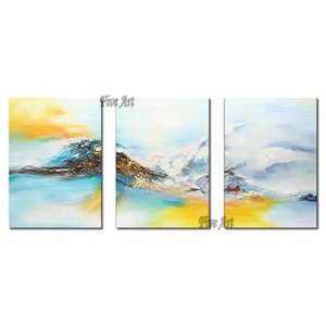100% Hand-painted 3PCS As 1 Set Abstract Oil Painting New Design Paintings Wall Art On Canvas Entrance For Living Room Unframed