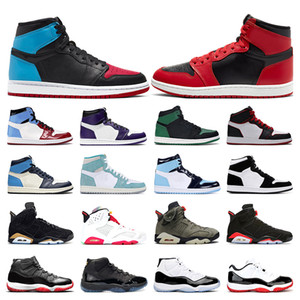 Air retro jordan 1 uomo 1s top Obsidian UNC Fearless First Class Flight PHANTOM TURBO GREEN 1 Sneaker sport tabellone trainer misura 5.5-12