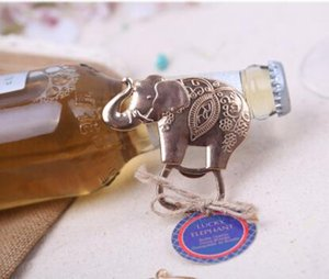 regali di bomboniere per gli ospiti - Lucky Golden Elephant Bottle Opener regalo di festa baby shower omaggi 100pcs / lot