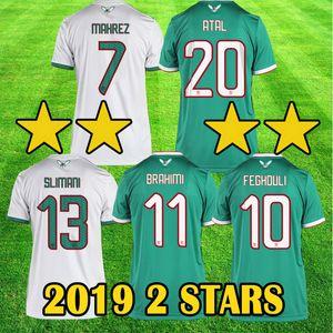 الجزائر 2019 2 نجوم أبطال الكأس الأفريقية AFCON MAHREZ كرة القدم البلوزات ATAL BRAHIMI FEGHOULI BOUNEDJAH BOUAZZA قمصان كرة القدم أعلى جودة