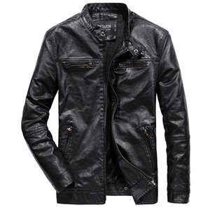 MYAZHOU erkek Kore Versiyonu Ince PU Deri Ceket, Artı Kadife Sıcak Moda Gençlik Vahşi Motosiklet Ceket erkek Giyim