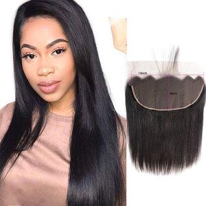 말레이시아 인간의 머리카락 13X6 레이스 정면 실키 스트레이트 버진 헤어 13 6 정면 스트레이트 탑 클로저 자연 색상