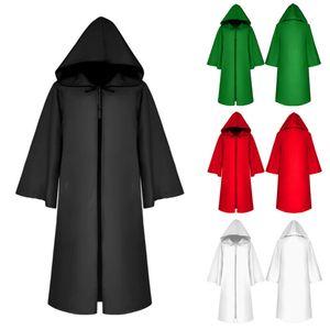 Yetişkin Halloween Cape Kapşonlu Cloak Fantezi Elbise Wicca Dikmeler Gotik Robe Yeni Festivali Cosplay giyim takım elbise Gevşek Erkekler Hoody ceket