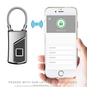 Bluetooth Fingerabdruck Padlock Smart-Gym Locker Biometrische Schlösser Kleine Touch-Biometric im Freien wasserdichte Fingerabdruck-Verschluss mit APP ZW06