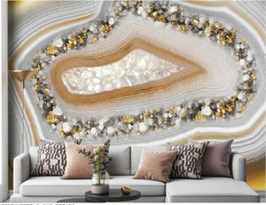 Custom any size photo 3d wallpapers Modern light luxury marble wallpapers pattern TV background wall