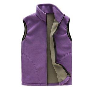 MISSKY chaleco de las mujeres transpirable Fleece caliente el chaleco sólido capa para el invierno sin mangas de color Gilet