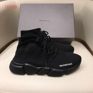 luxury shoes breathable stretch socks shoes men women casual lace-up sneakers sports socks boots whole black withe white letter