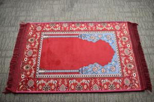 La preghiera islamica musulmana Mat Salat Musallah preghiera Tappeto 6 colors80 * 120 centimetri di alta qualità ad alta densità morbida antiscivolo comfortabl con Tapis islamica P