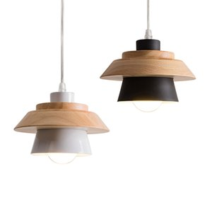 Pendant Light Moderno Legno Bianco Black Metal Bar Kitchen Homr decorazione del soffitto della lampada della lampada PA0007