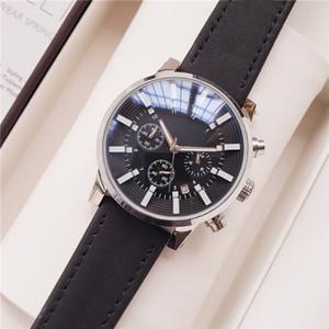 Suizo de lujo para hombre relojes de la marca Mont Time Walker Trabajo Sub Dial reloj de pulsera cronógrafo movimiento de cuarzo resistente al agua Relogio Masculino