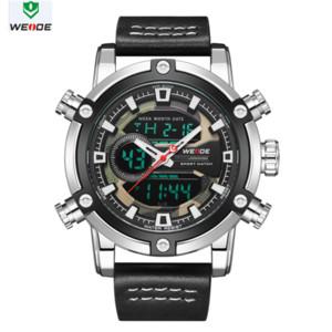WEIDE Assista Homens Luxo Movimento do relógio Europeia Homens Sports Business Quartz data analógico LCD Digital Alarme de pulso Men Watch