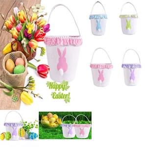 Conejo suave bolso de la cesta de la cola de lona de algodón conejo Personalidad Bolsa de paquetes de la fiesta de boda del regalo de Navidad Candy Bag DA223