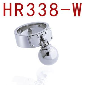 Anello sfera dell'acciaio inossidabile di marca uomo e anelli gioielli delle donne di lusso del progettista delle donne Anelli di fidanzamento promessa anelli