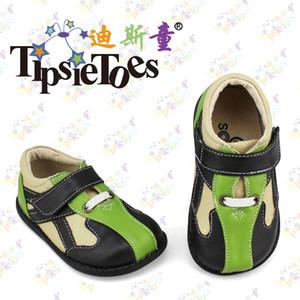 TipsieToes Marken-Qualitäts-Leder Stitching-Baby-Kind-Turnschuh-Schuhe Mokassins Loafers für Jungen 2020 Herbst Frühling