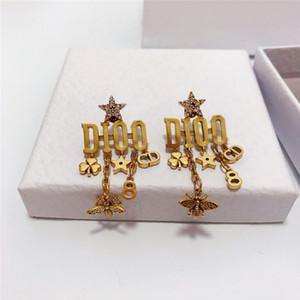 Retro Tassel Designer Earrings Letters Star Bee Earrings Studs Women Brand Earrings Studs Jewelry Accessories For Party