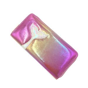 حورية البحر ذيل السيدة لونغ المحفظة الليزر محفظة المرأة PU زيبر محافظ جديد عملة وحاملات الأزياء بطاقة الفاصل حقيبة المال كليب المال حالة DBC VF1633