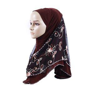 2019 nouveau style national turban arabe populaire foulard dames de vent