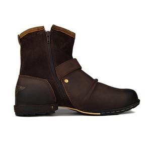 2019 Retro botas de cowboy de couro genuíno de fivela da correia cunha artesanais grandes botas couro toe cavaleiro bordados