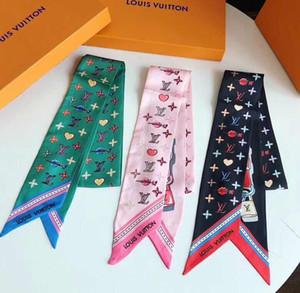 Fashion fashion Korean double ribbon scarf fashion elegant scarf elegant hair band 7*126cm, 3 colors, no box