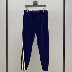 19SS Made in Italy clássico Pant exterior Desporto Sweatpants fitness Calças Moda Casual Rua Homens Mulheres Stripe Pants HFYMKZ179