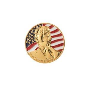 Trump Badge 2020 Trump Metal Брошь Pins Американский Выборы Supplies Патриотическое республиканской кампании Памятный Знак IIA17