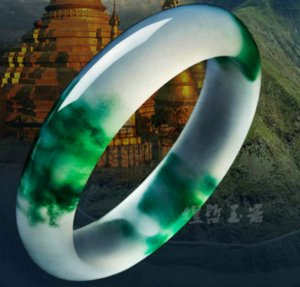 Certificado de 100% Natural Grade A Jade Jadeite Bangle Bracelet