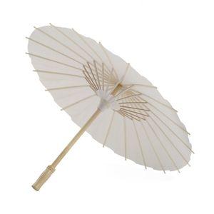 Livre blanc bambou parapluie Artisanat chinois parapluie peinture Livre blanc de danse Parapluies de soirée de mariage nuptiale Décoration VT0420
