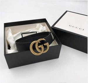 2020 핫 판매 BLACK 색상 4 모델은 선물로 상자 선물 크리스탈 더블 버클 여성 Riem의 스타일의 ceinture와 가죽 벨트 여자