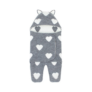 3 Colors Autumn Winter Children Warm Hooded Sleep Bag Baby Heart Swaddle Blanket Quilt Kids Shower Gift Cotton Swaddles new