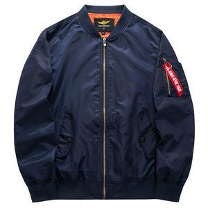 Autumn large size men's sports casual stand collar jacket Air Force No. 1 MA01 pilot men's baseball suit baseball uniform suit