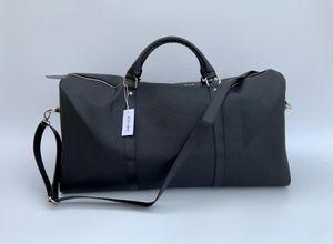 54CM Марка сумки Письмо Большая емкость ковша сумка Travel Наплечные сумки Duffle Полосатый пляж сумка унисекс Street багажа с серийным номером