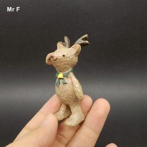Exquisita de bricolaje accesorios de resina Sika Deer Resina Artesanía de Navidad Decoración Accesorios modelo de juguete