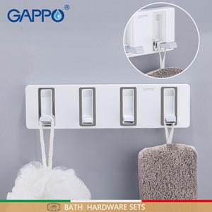 GAPPO 목욕 하드웨어 세트 욕실 액세서리 벽은 제품 매달려 후크 화이트 색상 목욕 하드웨어 세트를 목욕 마운트